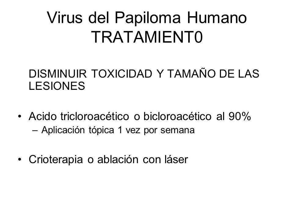Virus del Papiloma Humano TRATAMIENT0