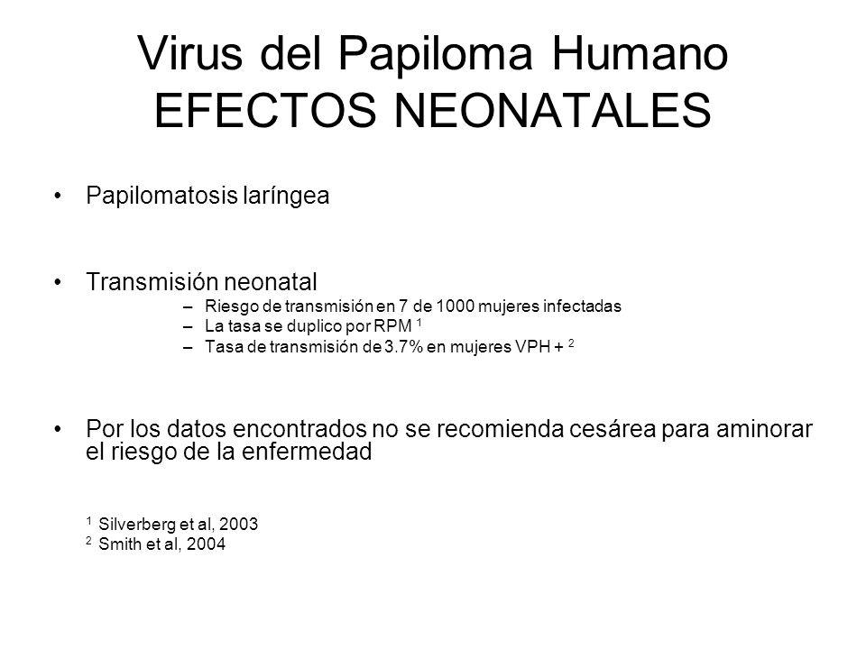 Virus del Papiloma Humano EFECTOS NEONATALES