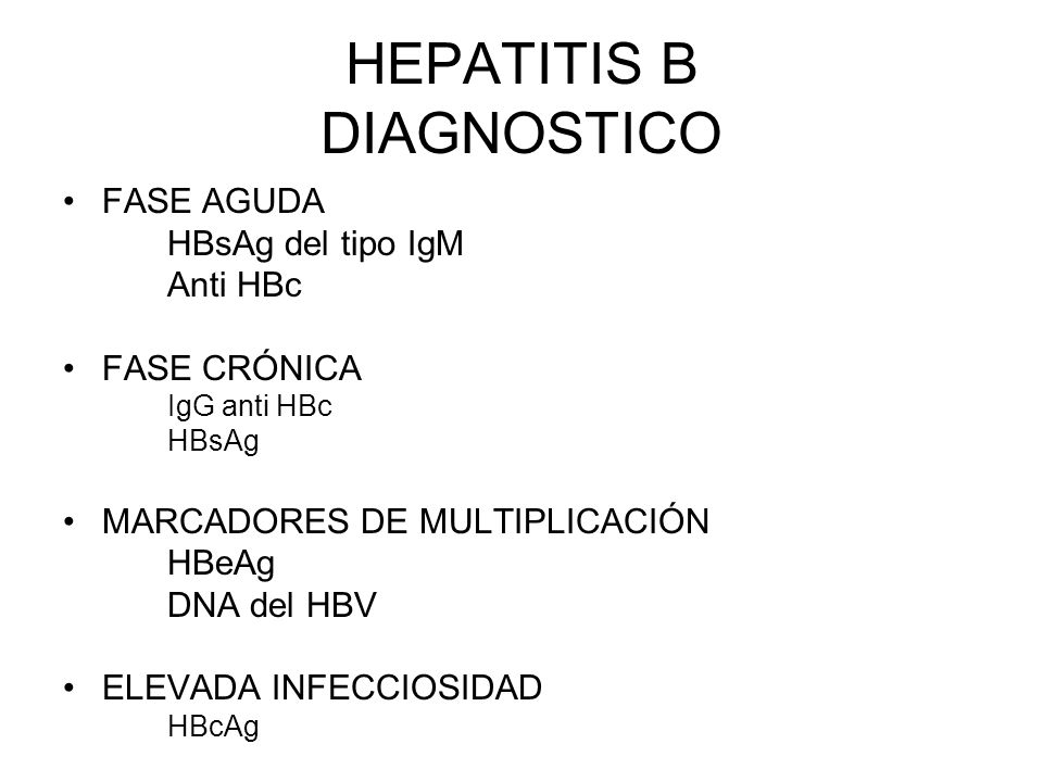HEPATITIS B DIAGNOSTICO