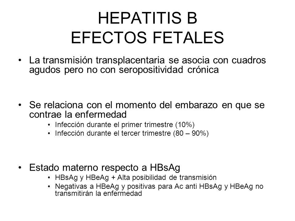HEPATITIS B EFECTOS FETALES