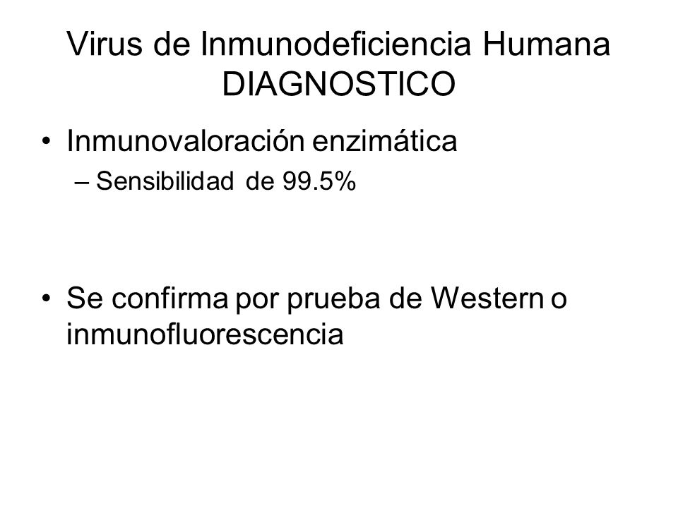Virus de Inmunodeficiencia Humana DIAGNOSTICO