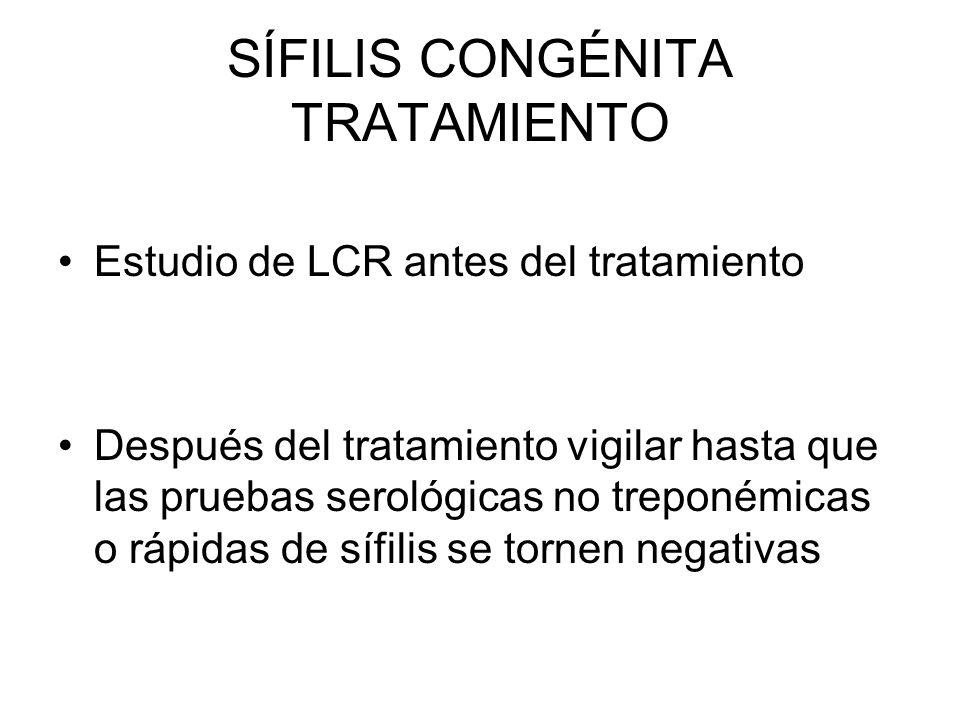 SÍFILIS CONGÉNITA TRATAMIENTO