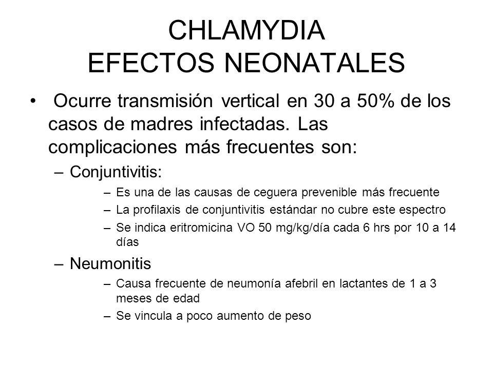 CHLAMYDIA EFECTOS NEONATALES