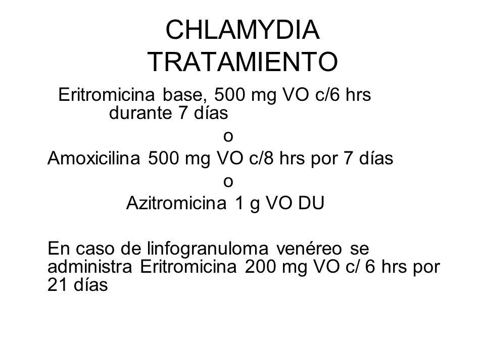 CHLAMYDIA TRATAMIENTO