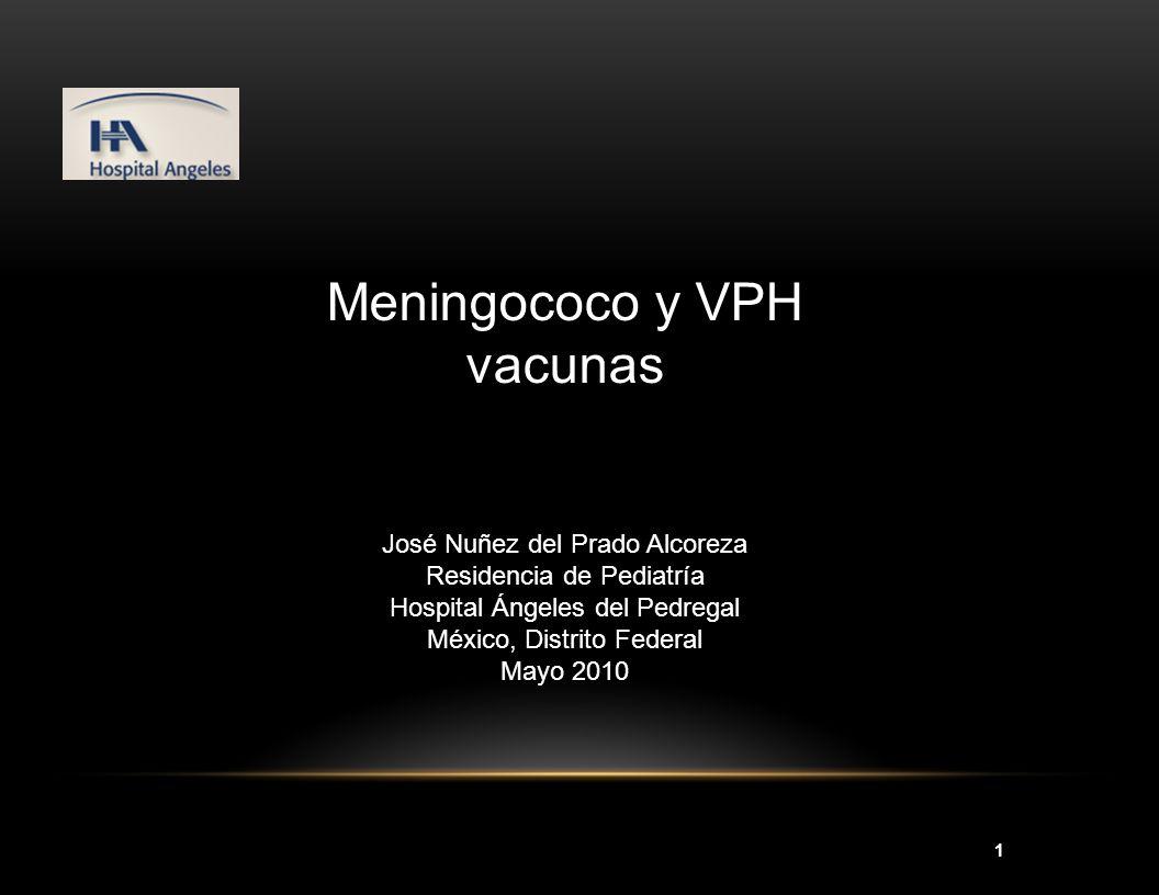 Meningococo y VPH vacunas
