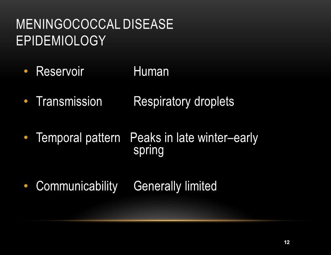 Meningococcal Disease Epidemiology