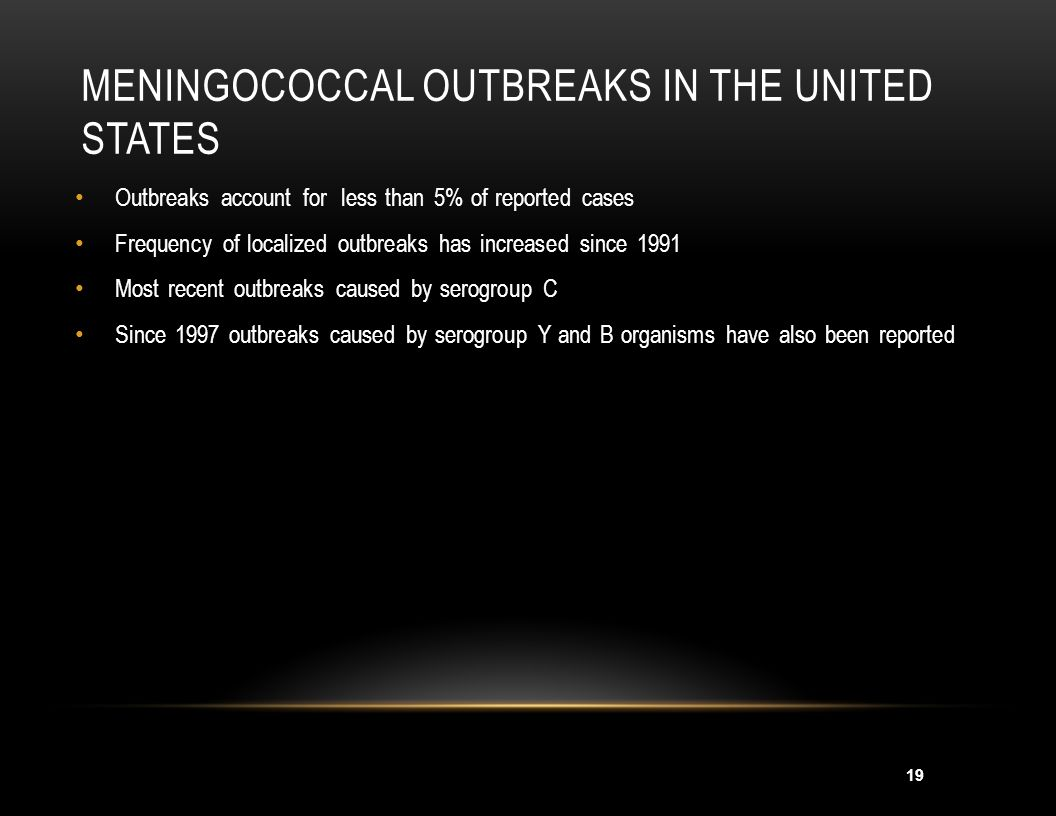 Meningococcal Outbreaks in the United States