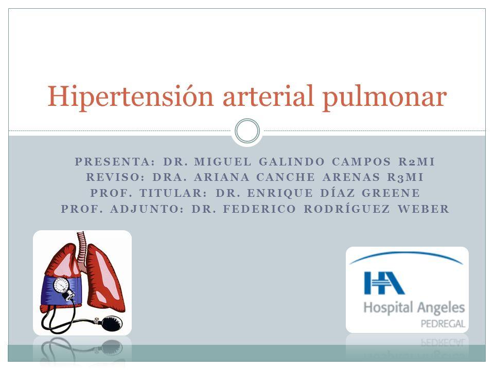 Hipertensión arterial pulmonar