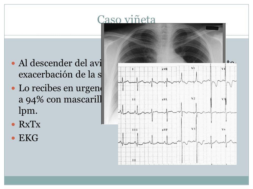 Caso viñeta Al descender del avión en la Cd. de Mexico presenta exacerbación de la sintomatología.