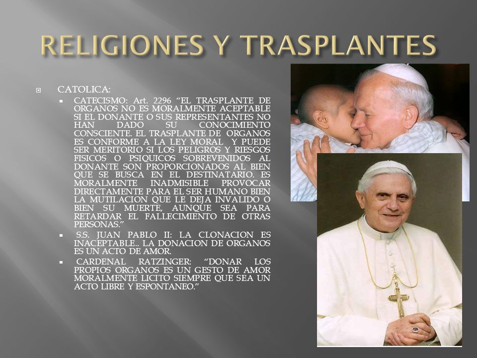 RELIGIONES Y TRASPLANTES