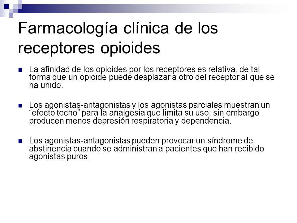 Farmacología clínica de los receptores opioides