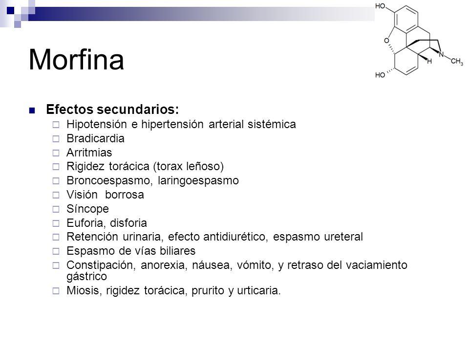 Morfina Efectos secundarios: