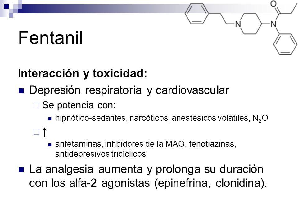 Fentanil Interacción y toxicidad:
