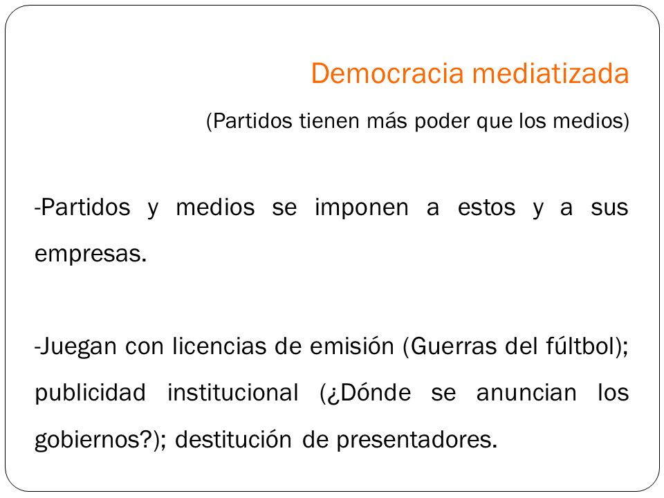 Democracia mediatizada
