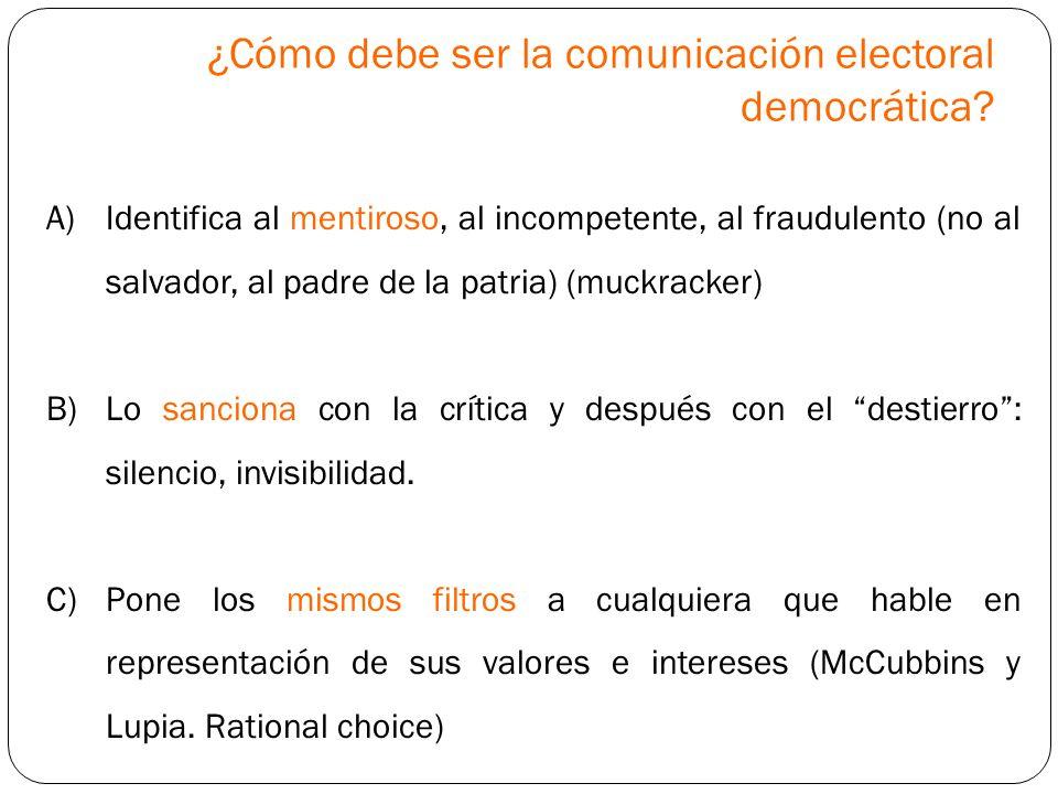 ¿Cómo debe ser la comunicación electoral democrática