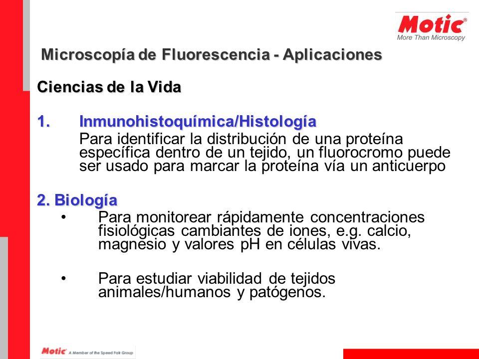 Microscopía de Fluorescencia - Aplicaciones