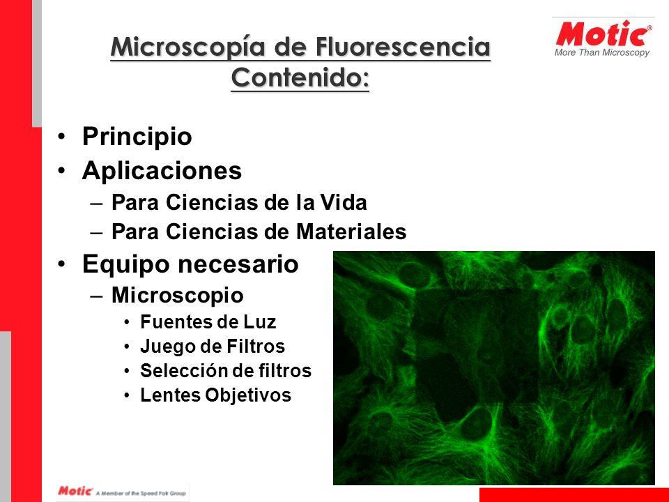 Microscopía de Fluorescencia Contenido: