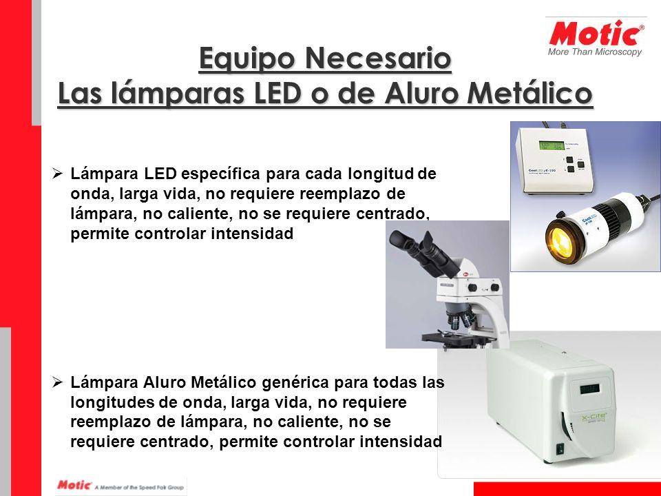 Equipo Necesario Las lámparas LED o de Aluro Metálico