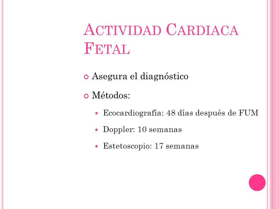 Actividad Cardiaca Fetal