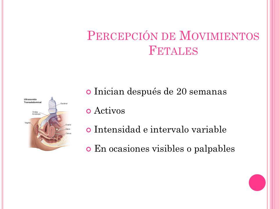 Percepción de Movimientos Fetales