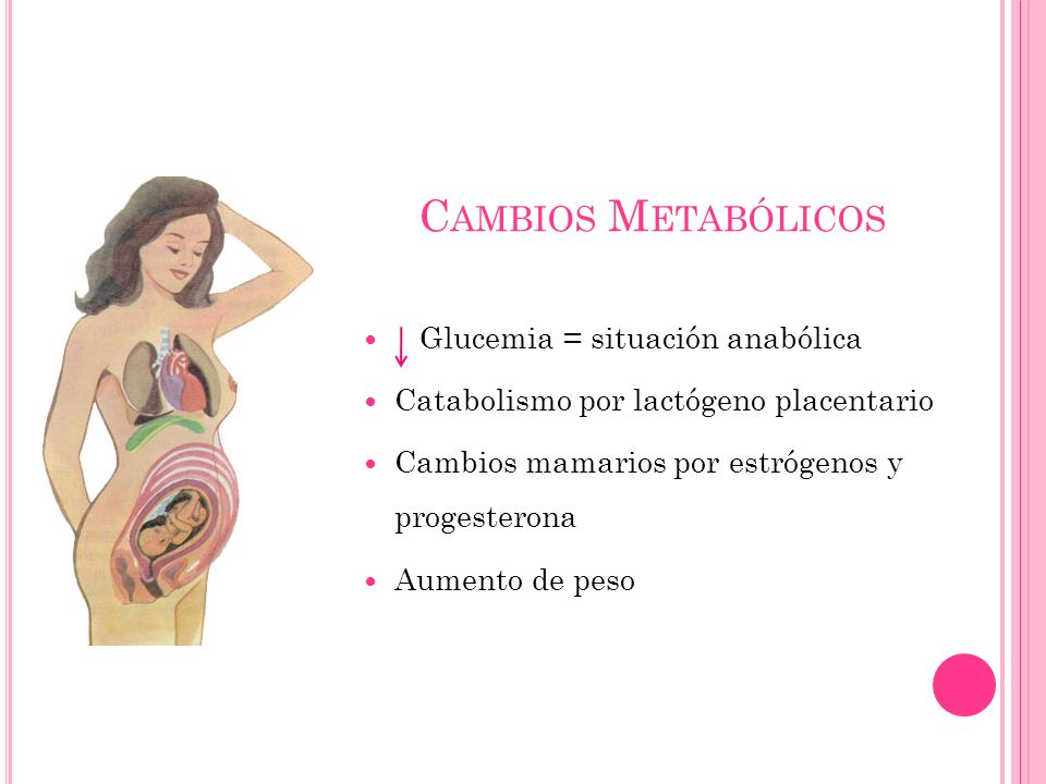 Cambios Metabólicos Glucemia = situación anabólica