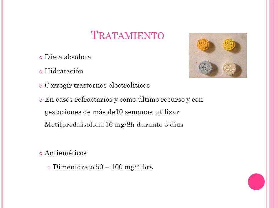 Tratamiento Dieta absoluta Hidratación