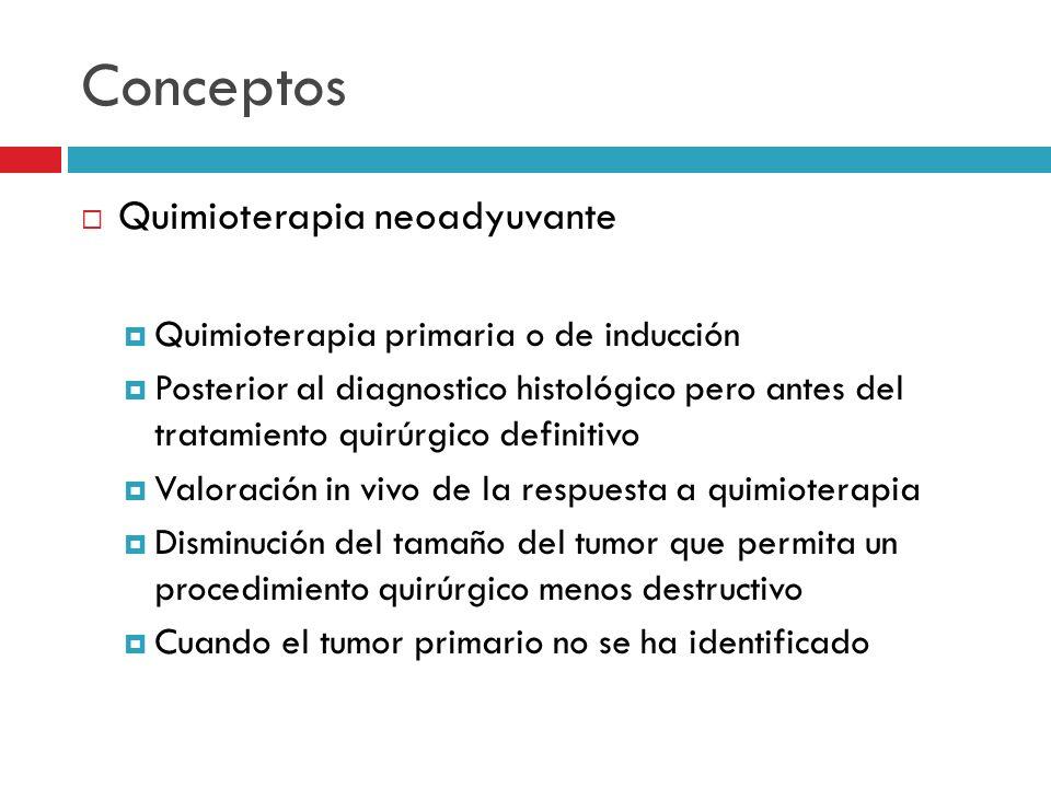 Conceptos Quimioterapia neoadyuvante