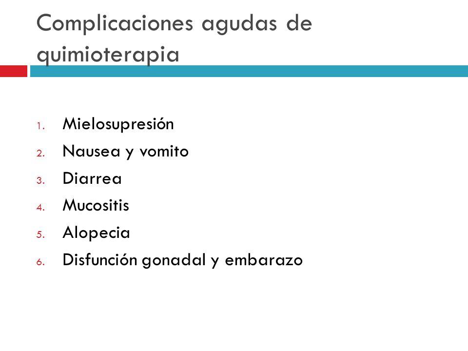 Complicaciones agudas de quimioterapia