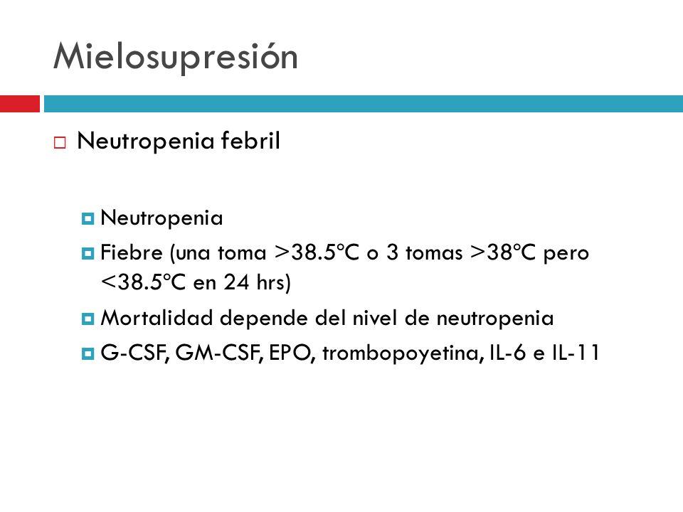 Mielosupresión Neutropenia febril Neutropenia