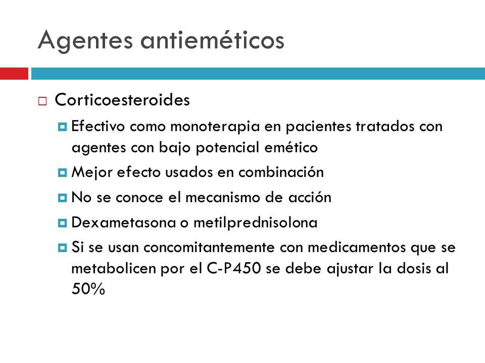 Agentes antieméticos Corticoesteroides