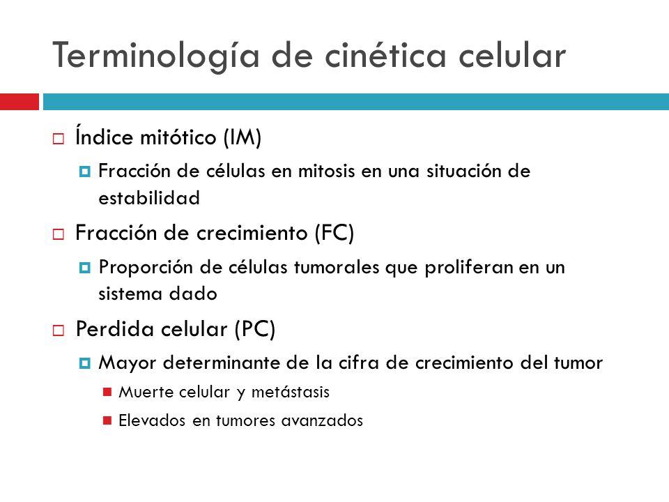Terminología de cinética celular