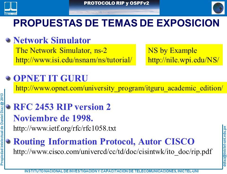PROPUESTAS DE TEMAS DE EXPOSICION