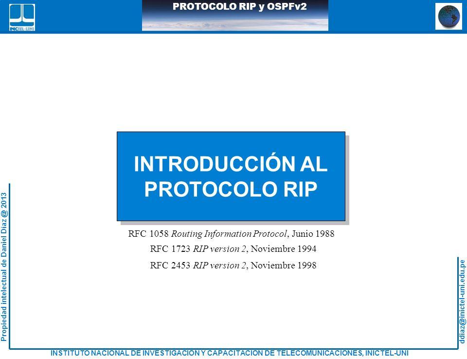 INTRODUCCIÓN AL PROTOCOLO RIP