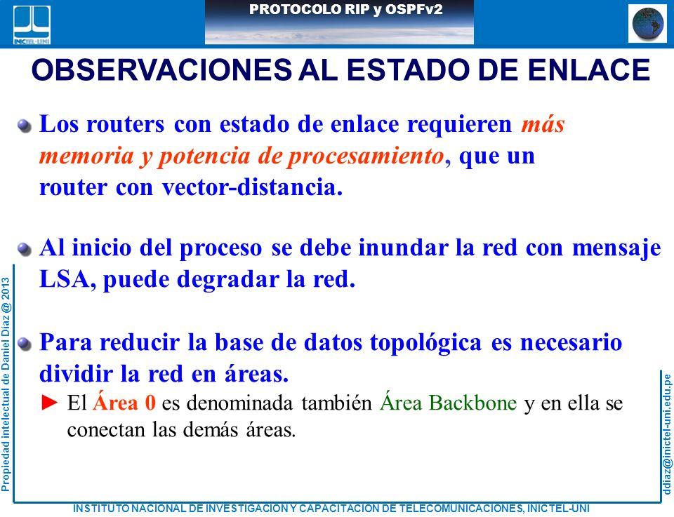 OBSERVACIONES AL ESTADO DE ENLACE