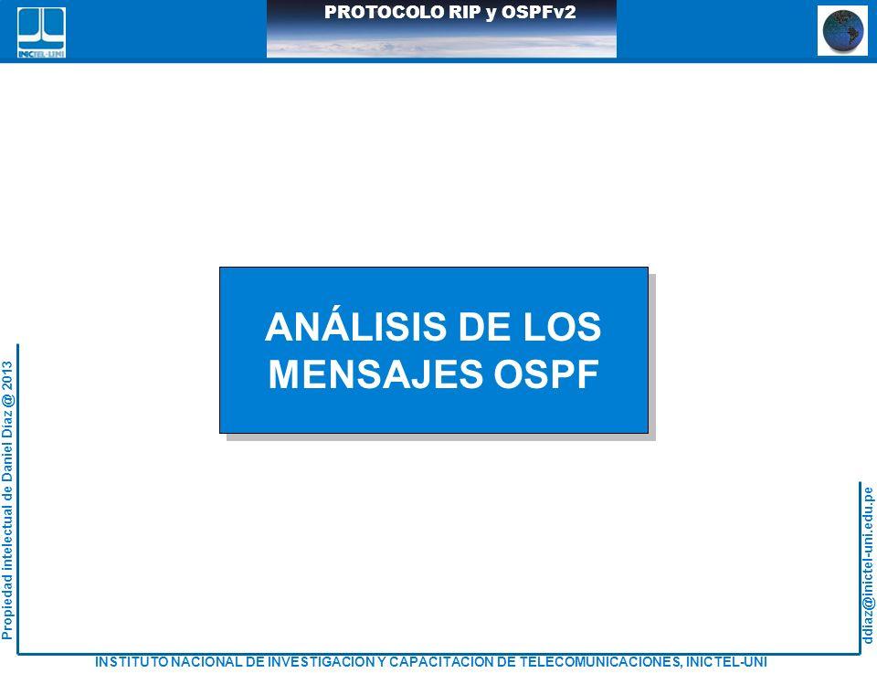 ANÁLISIS DE LOS MENSAJES OSPF