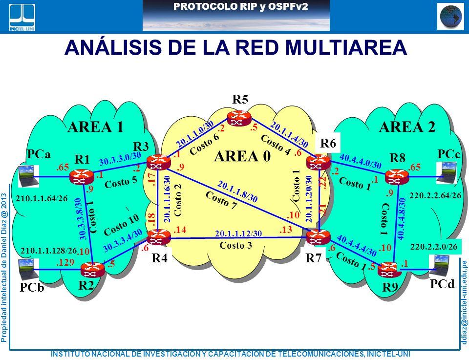 ANÁLISIS DE LA RED MULTIAREA