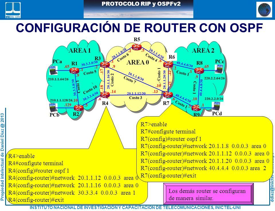 CONFIGURACIÓN DE ROUTER CON OSPF