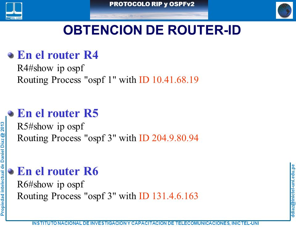 OBTENCION DE ROUTER-ID