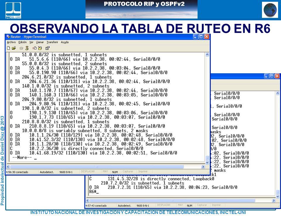 OBSERVANDO LA TABLA DE RUTEO EN R6