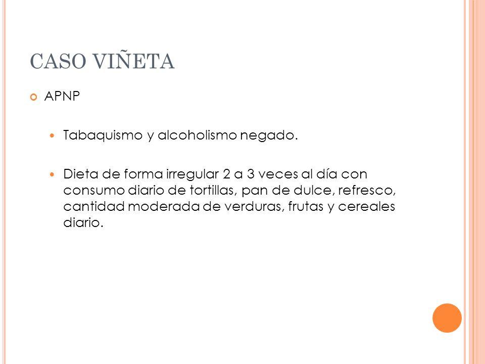 CASO VIÑETA APNP Tabaquismo y alcoholismo negado.