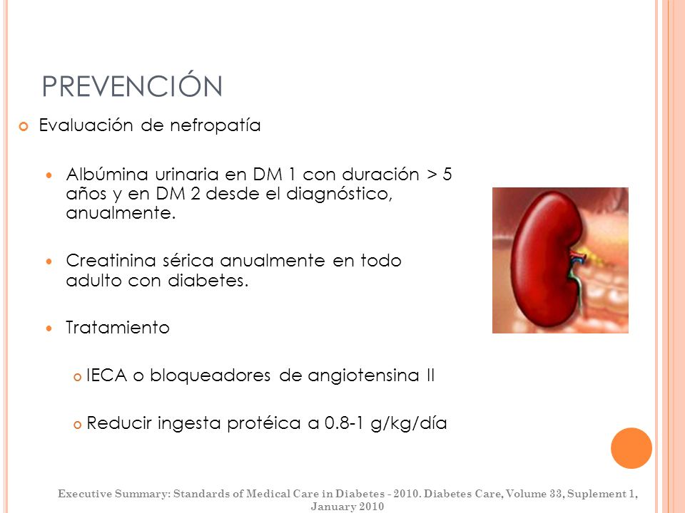 PREVENCIÓN Evaluación de nefropatía