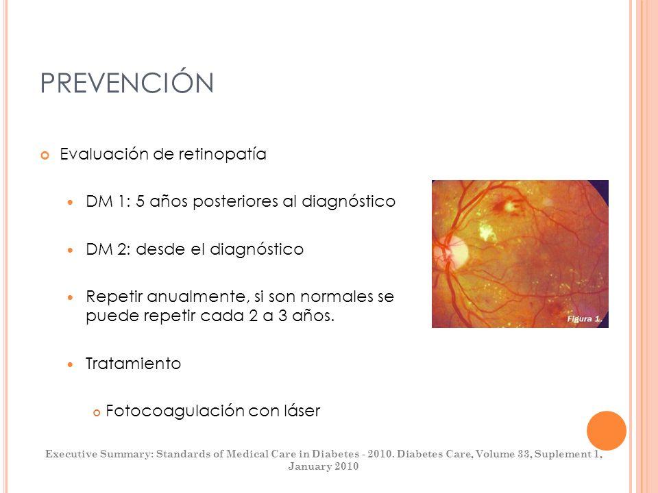 PREVENCIÓN Evaluación de retinopatía
