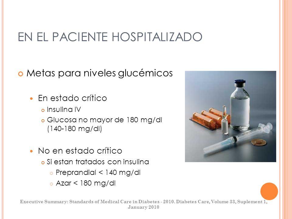 EN EL PACIENTE HOSPITALIZADO