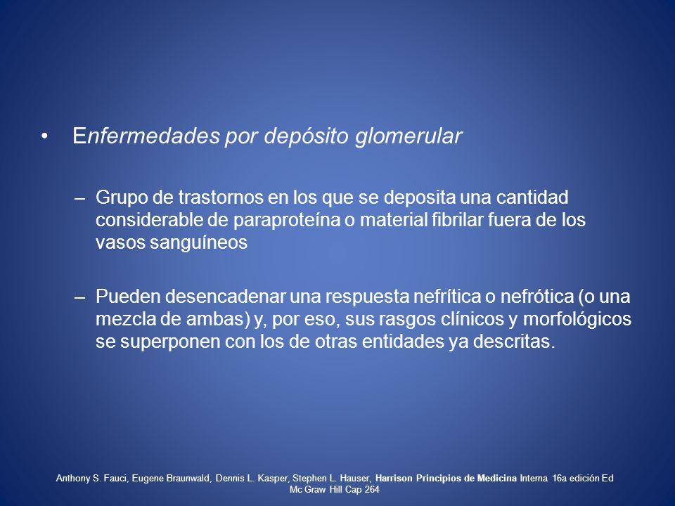 Enfermedades por depósito glomerular