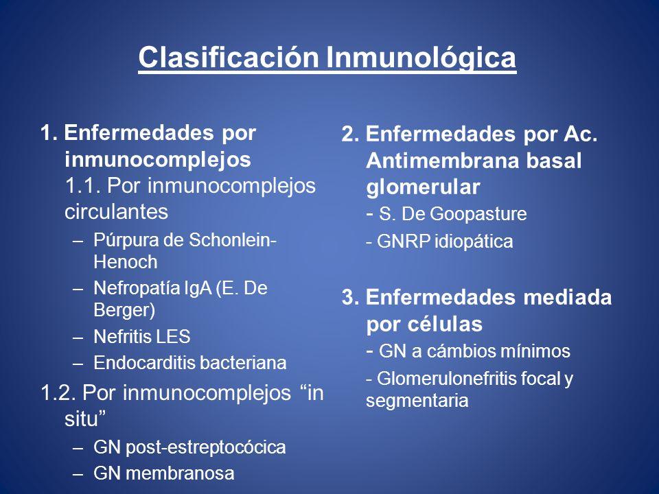 Clasificación Inmunológica