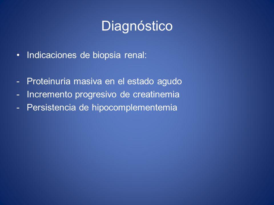 Diagnóstico Indicaciones de biopsia renal: