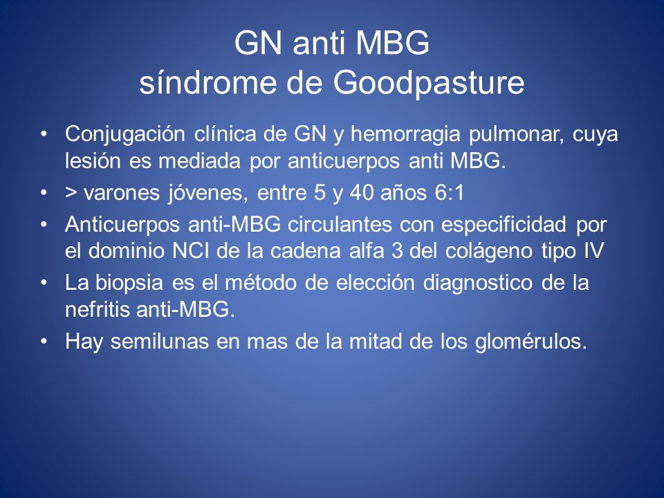 GN anti MBG síndrome de Goodpasture