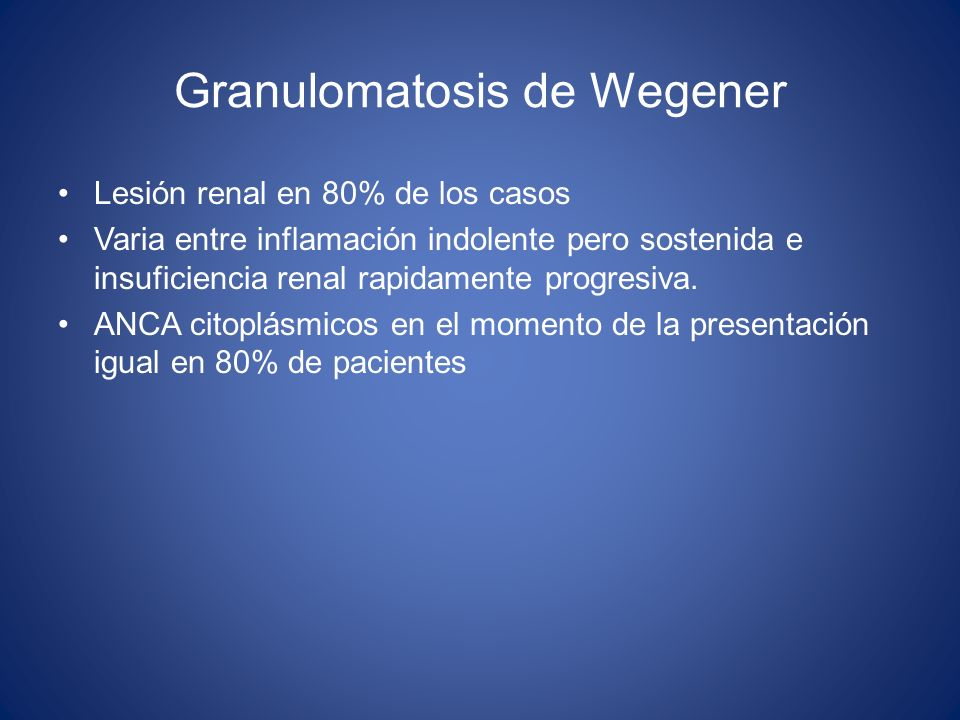 Granulomatosis de Wegener