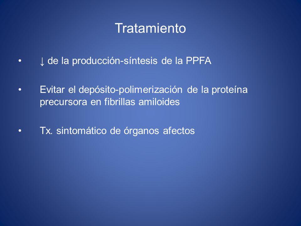Tratamiento ↓ de la producción-síntesis de la PPFA