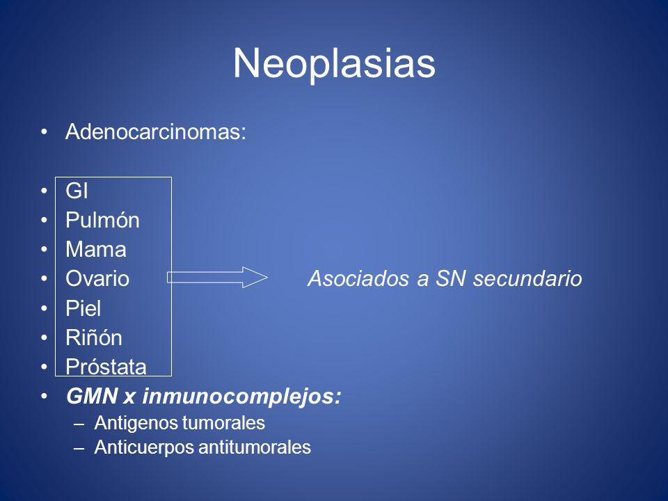 Neoplasias Adenocarcinomas: GI Pulmón Mama